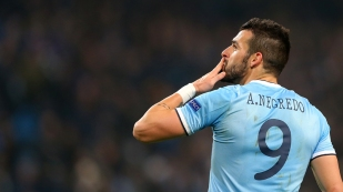 Alvaro Negredo at Man City.